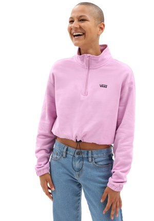 WM LEFT CHEST HALF ZIP FLEECE - Sweatshirt - orchid