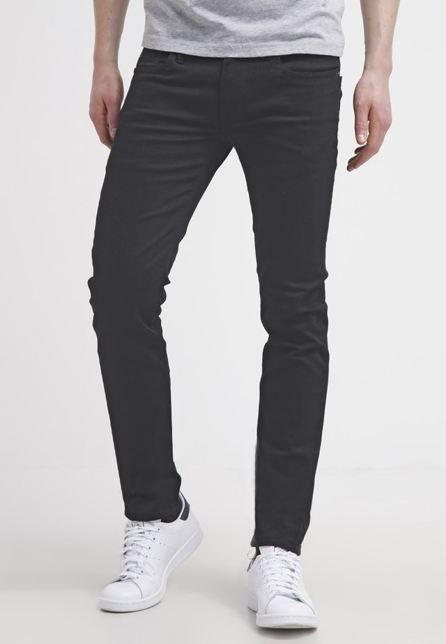 HATCH - Džíny Slim Fit - black denim