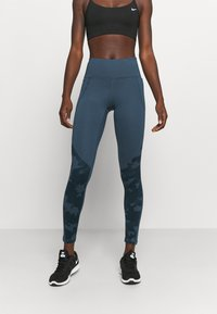 Under Armour - CAMO LEGGING - Punčochy - mechanic blue - 0