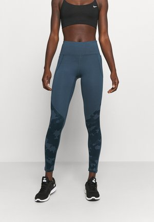 CAMO LEGGING - Tights - mechanic blue