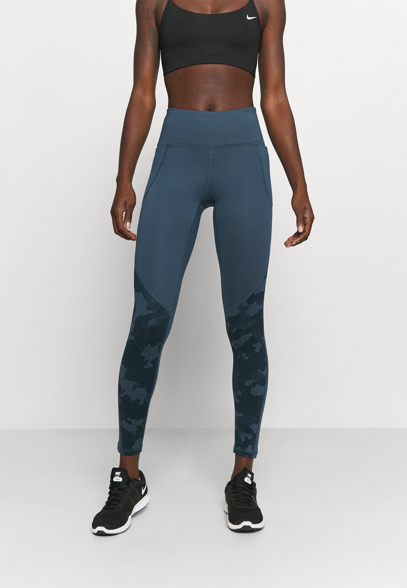 Under Armour - CAMO LEGGING - Punčochy - mechanic blue