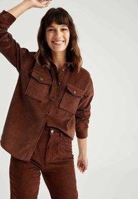 DeFacto - Button-down blouse - brown - 2