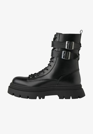 MIT SCHNALLEN-DETAIL - Cowboy/biker ankle boot - black
