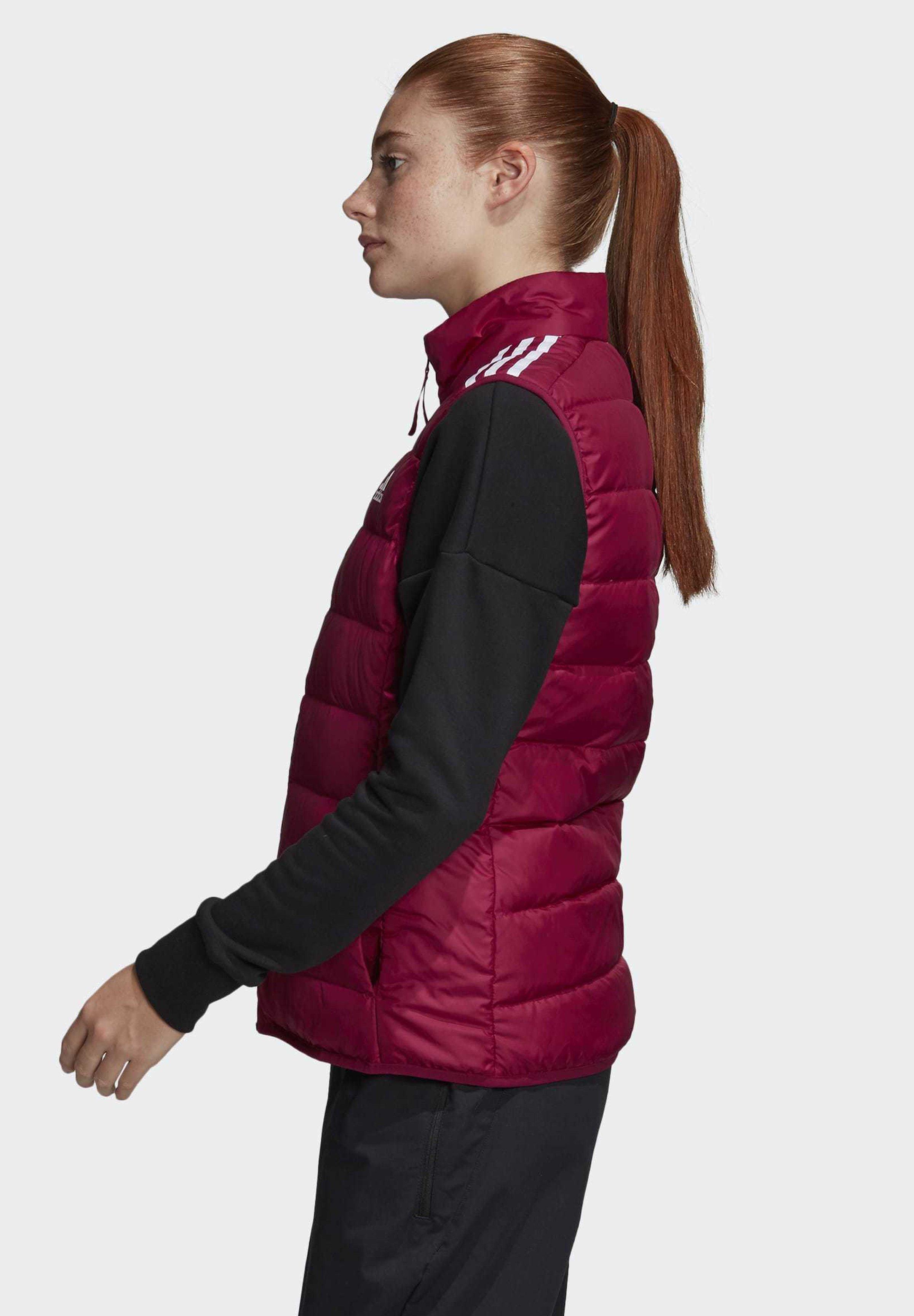 adidas Performance ESSENTIALS DOWN VEST - Waistcoat - burgundy He101