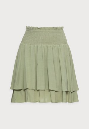 CLUSELLA - Mini skirt - oil green