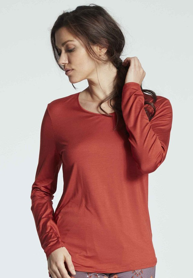 Long sleeved top - brick