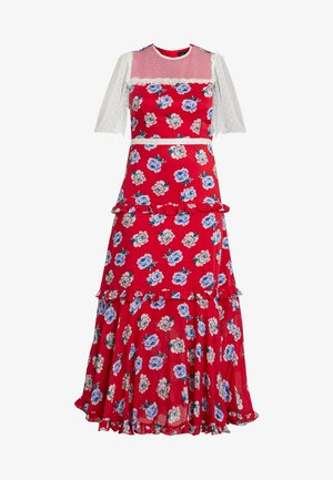 BLOOMING BESS DRESS - Maxi šaty - red