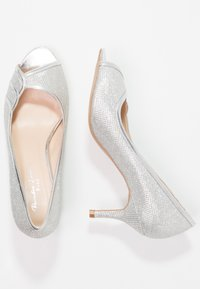 Paradox London Pink - CHESTER - Peeptoes - silver glitter - 2