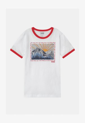 GRAPHIC RINGER UNISEX - Print T-shirt - white