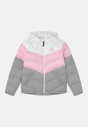 SYNTHETIC FILL UNISEX - Winter jacket - white/pink foam/light smoke grey