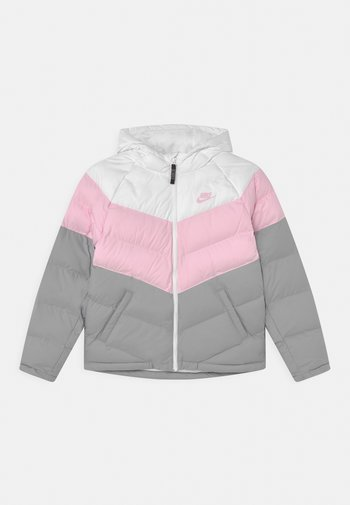 SYNTHETIC FILL UNISEX - Giacca invernale - white/pink foam/light smoke grey