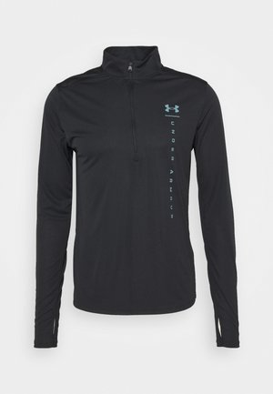 UA SPEED STRIDE SHOCK HZ-BLK - T-shirt de sport - black
