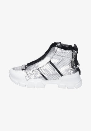 High-top trainers - silver/black