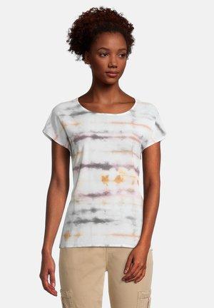 Print T-shirt - cream/rosé