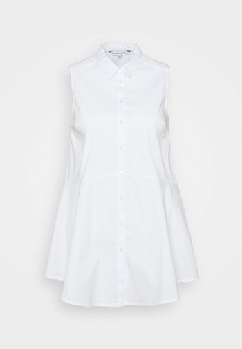 STRETCH SLEEVELESS FIT AND FLARE SHIRT - Top - white