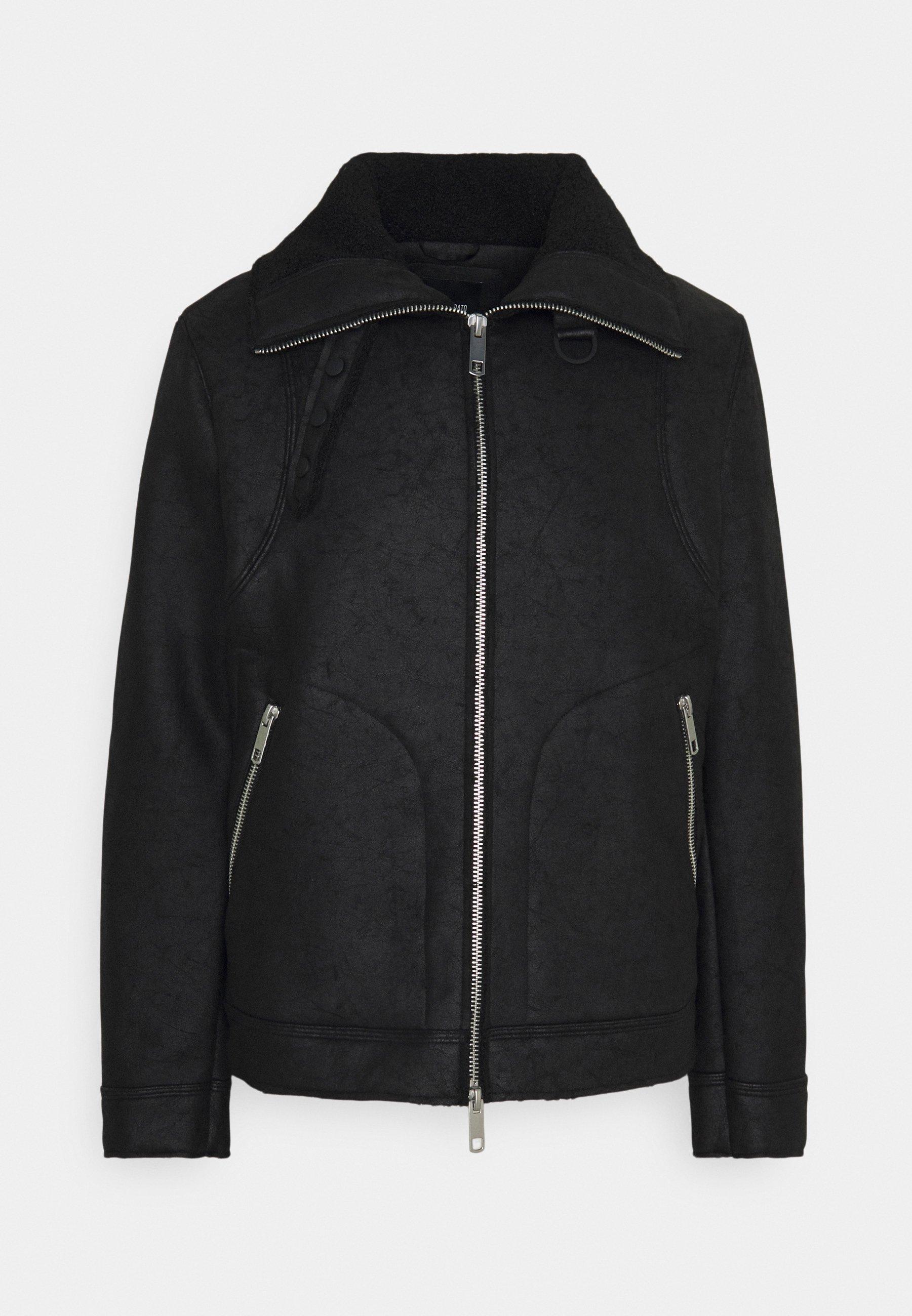 Men COAT SLIM FIT - Faux leather jacket