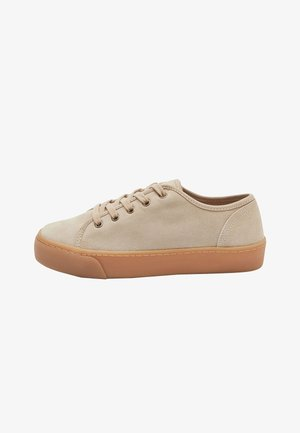 CHUNKY LEATHER TRAINERS - Casual lace-ups - nude