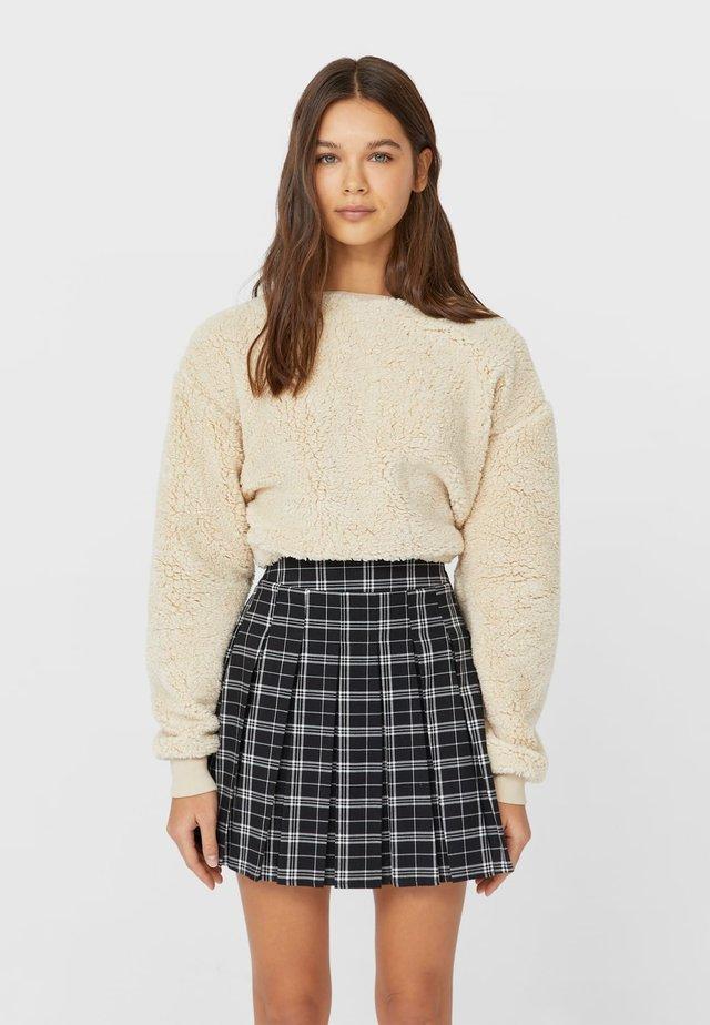 KARIERTER - Spódnica trapezowa - white