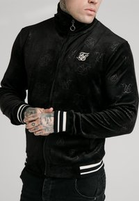 SIKSILK - DEBOSSED JACKET - Giubbotto Bomber - jet black - 4