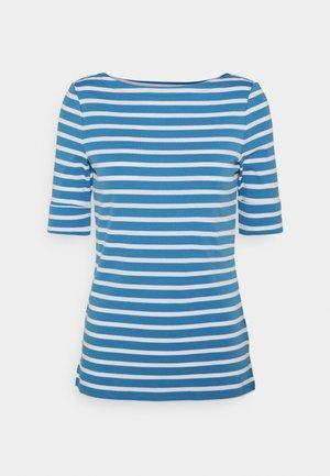 Print T-shirt - captain blue/white