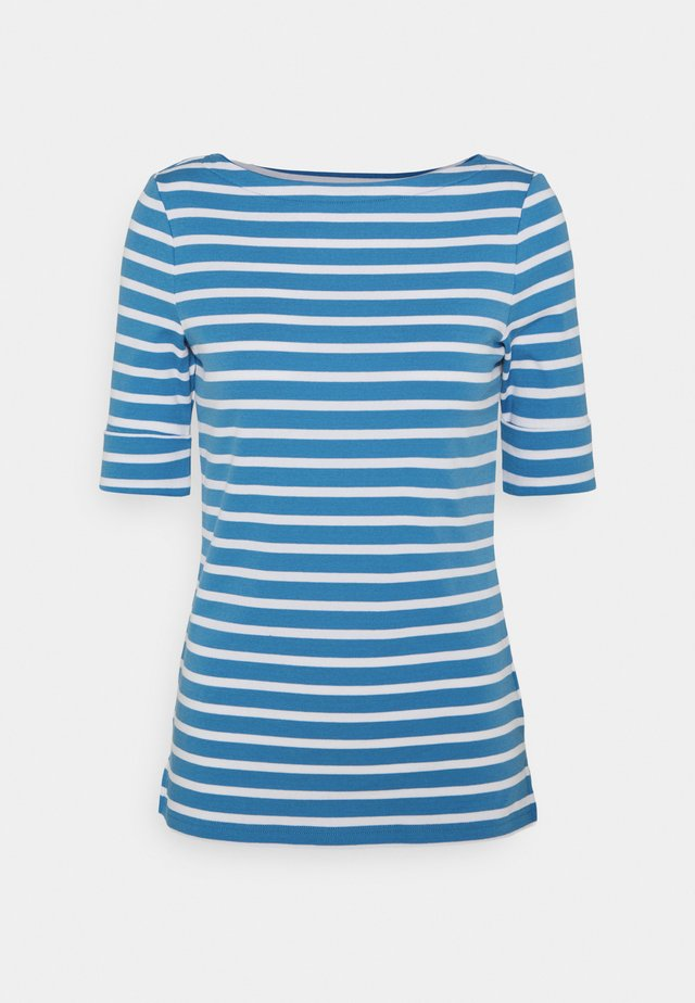 T-shirts med print - captain blue/white