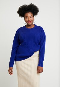 Dorothy Perkins Curve - LEAD IN STITCH - Stickad tröja - cobalt - 0
