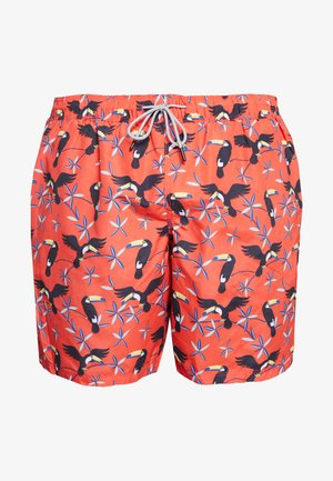 JJIARUBA JJSWIMSHORTS ANIMAL - Swimming shorts - hot coral