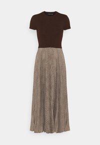 Polo Ralph Lauren - PAPA SHORT SLEEEVE DAY DRESS - Jumper dress - brown - 4