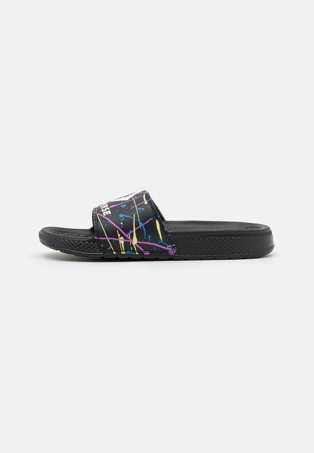 ALL STAR SLIDE SPLATTER PRINT UNISEX - Mules - black/light zitron/white
