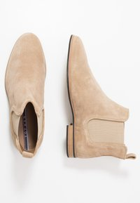 Topman - SUMMER CHELSEA - Classic ankle boots - stone - 1