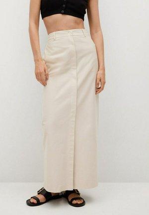 Maxi skirt - open beige