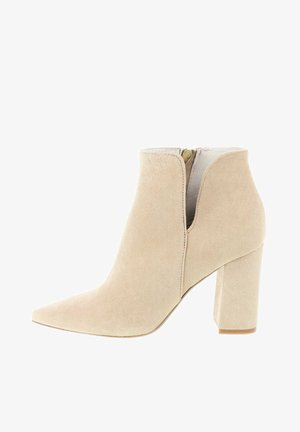 MAMONE - High heeled ankle boots - beige