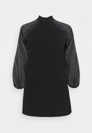 PCNALLY ORGANZA DRESS - Day dress - black