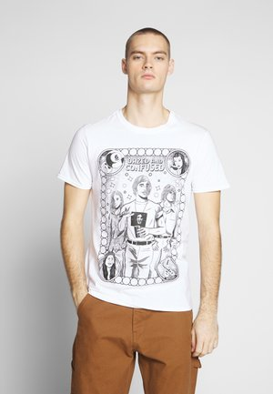 DAZED & CONFUSED ILLUSTRATION - T-shirt med print - white