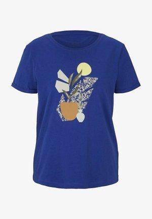 Print T-shirt - anemone blue