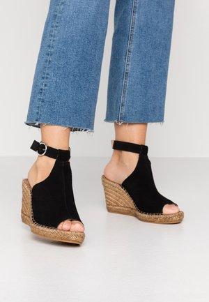 WAYFARER WEDGE - High heeled sandals - black