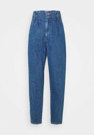 ONLPLEAT CARROW TALL - Skinny džíny - medium blue denim