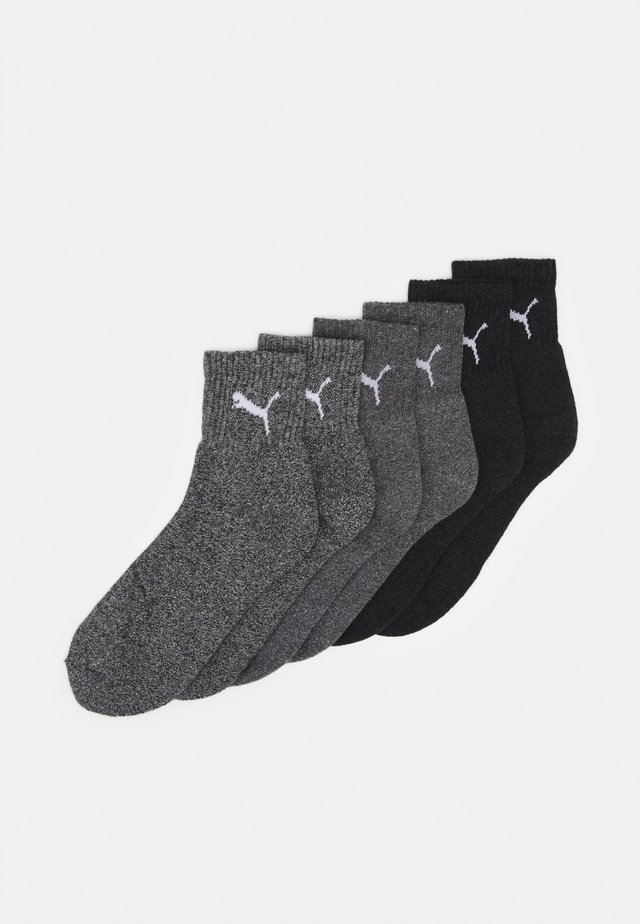 SHORT CREW 6 PACK UNISEX - Sports socks - grey combo