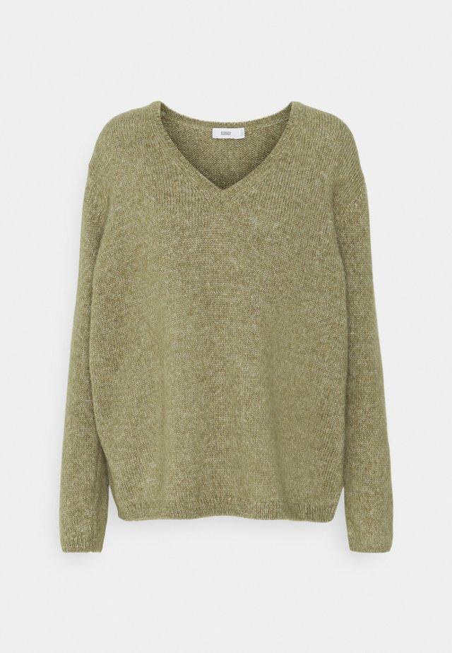 Sweter - green umber