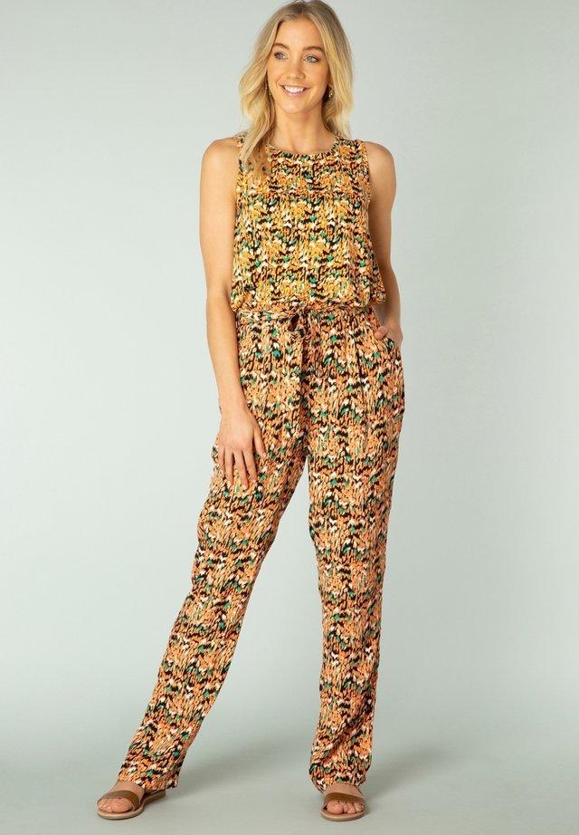 KAYRA - Trousers - fresh orange/multico