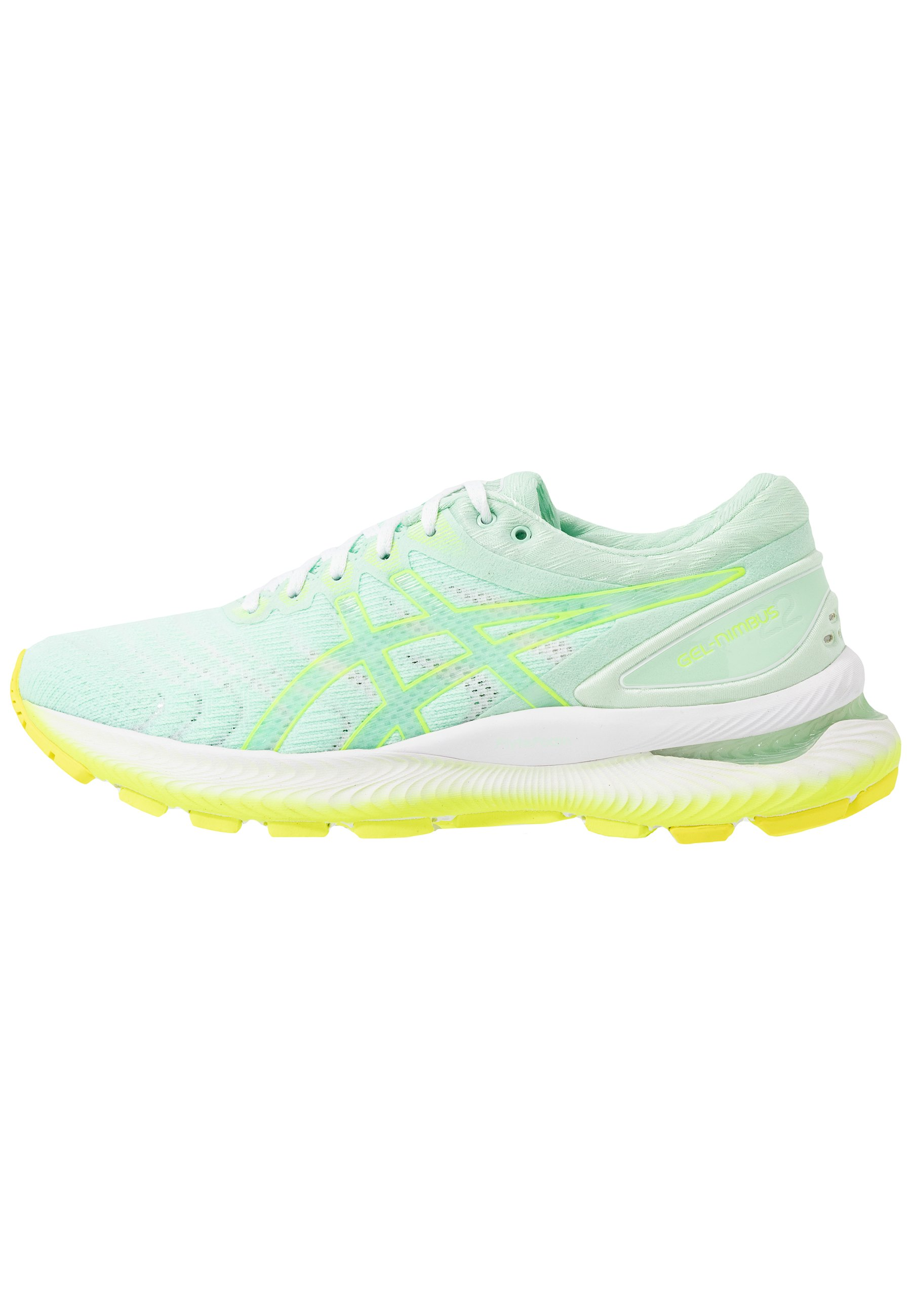 GEL-NIMBUS 22 MODERN TOKYO - Zapatillas de running neutras - mint  tint/safety yellow