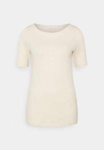SHORT SLEEVE BOAT NECK - Basic T-shirt - natural raw