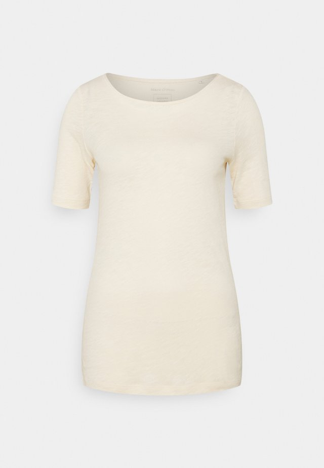 SHORT SLEEVE BOAT NECK - Camiseta básica - natural raw