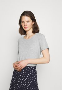 Marks & Spencer London - RELAXED - Basic T-shirt - grey - 0