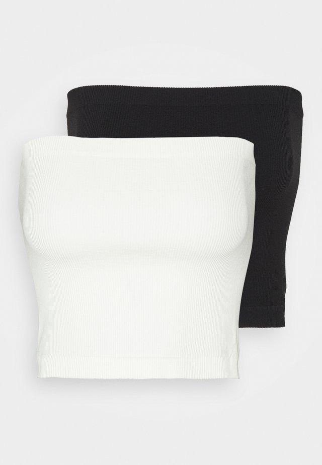 ONLVICKY SEAMLESS 2 PACK - Strapless BH - black/white