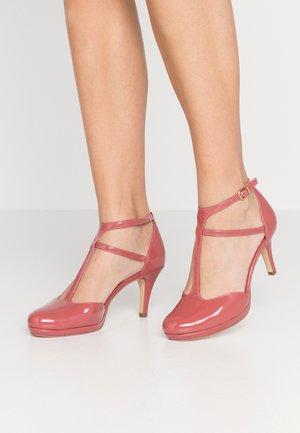 Platform heels - pale ruby