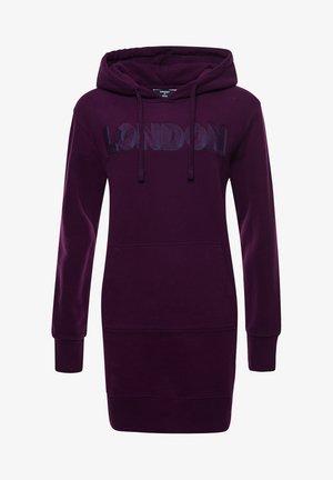 TONAL CITY  - Shift dress - aubergine