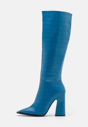 SPHERE - Boots med høye hæler - blue