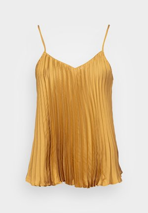 PLEATED CAMI - Top - gold ochre