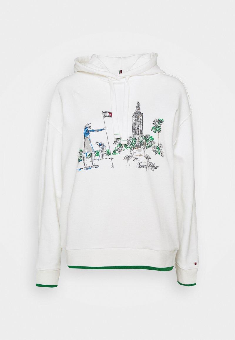 Tommy Hilfiger - OVERSIZED BOX TOWER HOODIE - Sweatshirt - ecru